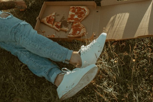 pizza inspired couples session