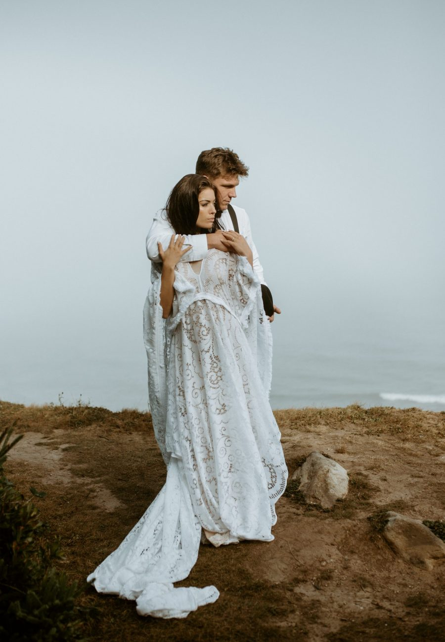 kannon beach Nova Scotia bohemian cliffside elopement